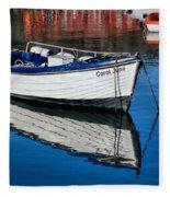 Carol June At Lyme Regis Harbour Fleece Blanket
