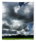 Carolina Clouds Fleece Blanket