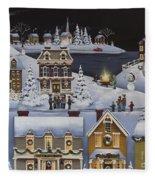 Caroling In Winterberry Fleece Blanket