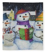 Caroling Fleece Blanket