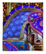 Carousel Beauty Blue Charger Fleece Blanket