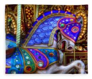 Carousel Beauty Prancing Fleece Blanket