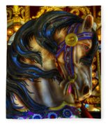 Carousel Beauty Waiting For A Rider Fleece Blanket