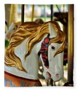 Carousel Horse 1 Fleece Blanket