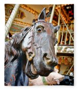 Carousel Horse Head Fleece Blanket