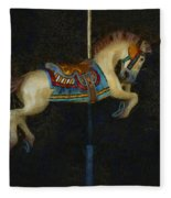 Carousel Horse Painterly Fleece Blanket