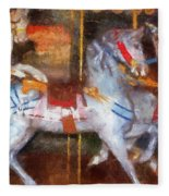 Carousel Horse Photo Art 02 Fleece Blanket