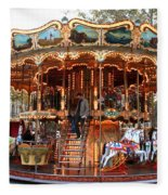 Carousel In Avignon Fleece Blanket