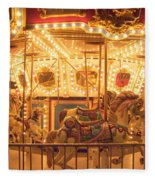Carousel Night Lights Fleece Blanket
