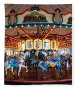 Carousel Ride Fleece Blanket