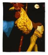 Carousel Rooster Fleece Blanket