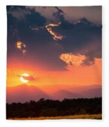 Carpathian Sunset Fleece Blanket