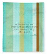 Carpe Diem Serie - Mother Teresa Fleece Blanket