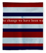 Carpe Diem Series - Barack Obama Fleece Blanket