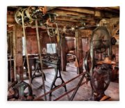 Carpenter - This Old Shop Fleece Blanket
