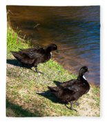 Carpenters Park-ducks Fleece Blanket