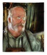 Carpentry - The Carpenter And His Workshop Fleece Blanket