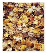 Carpet Of Leafs Fleece Blanket