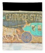 Carriage And Stagecoach Color Invert Fleece Blanket