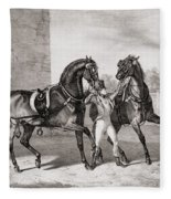 Carriage Horses For The King Fleece Blanket