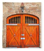 Carriage House Doors Fleece Blanket