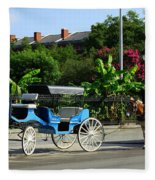 Carriage Tours New Orleans Fleece Blanket