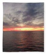 Caribbean Sunset Fleece Blanket