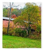 Carrollton Covered Bridge 2 Fleece Blanket