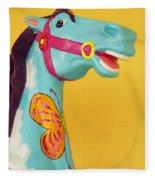 Carrosel Horse Fleece Blanket