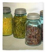 Carrots Vintage Kitchen Glass Jar Canning Fleece Blanket