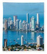 Cartagena Skyscapers Fleece Blanket