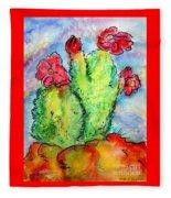 Cartoon Cactus Fleece Blanket