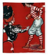 Cartoon Football, 1901 Fleece Blanket