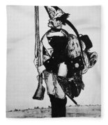 Cartoon: Hessian Soldier Fleece Blanket