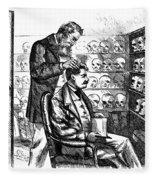 Cartoon: Phrenology, 1865 Fleece Blanket