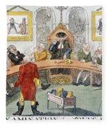 Cartoon: Surgeons, 1811 Fleece Blanket
