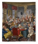 Cartoon: The Smoking Club Fleece Blanket