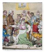Cartoon: Vaccination, 1802 Fleece Blanket