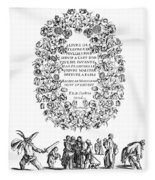Cartouche, 1635 Fleece Blanket