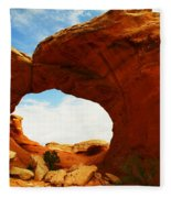 Carved By The Winds Of Time Fleece Blanket