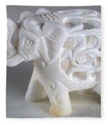 Carved Elephant Fleece Blanket