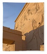 Carved Wall Of The Temple  Philae  Fleece Blanket