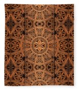 Carved Wooden Cabinet Symmetry Fleece Blanket