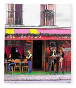 Casa San Pablo Restaurant Fleece Blanket