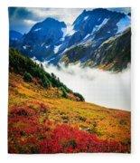 Cascade Pass Peaks Fleece Blanket