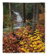 Cascade Creek  Autumn Fleece Blanket