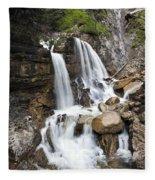 Cascades In Bavaria Fleece Blanket