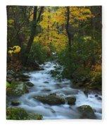 Cascades On The Motor Nature Trail Fleece Blanket
