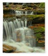 Cascading Everywhere At Ricketts Glen Fleece Blanket