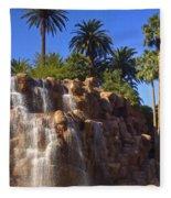 Cascading Rocky Waterfall Fleece Blanket